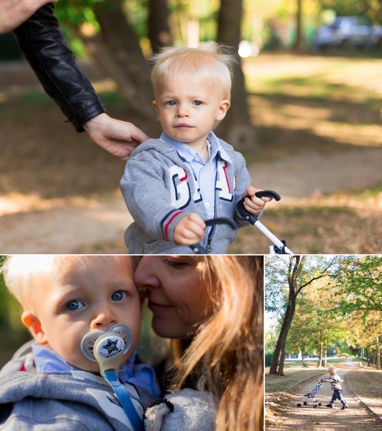 Emil et sa maman lors d'une séance famille
